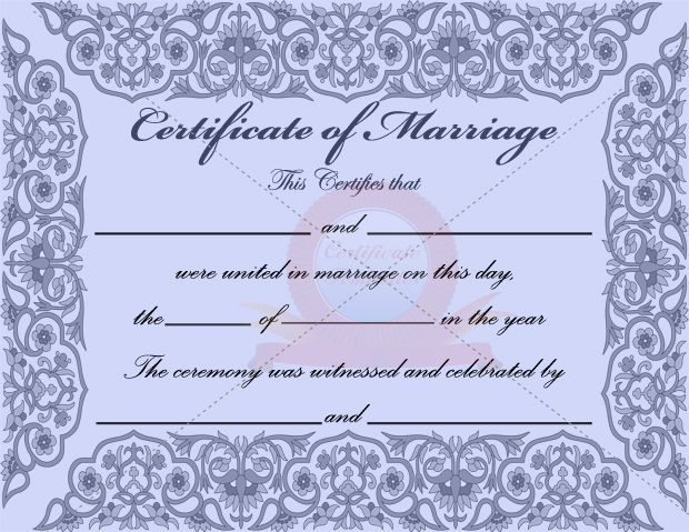 10 best marriage certificate templates images on pinterest for Commemorative certificate template
