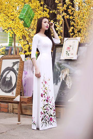Maxi dress white elegant dolomiti