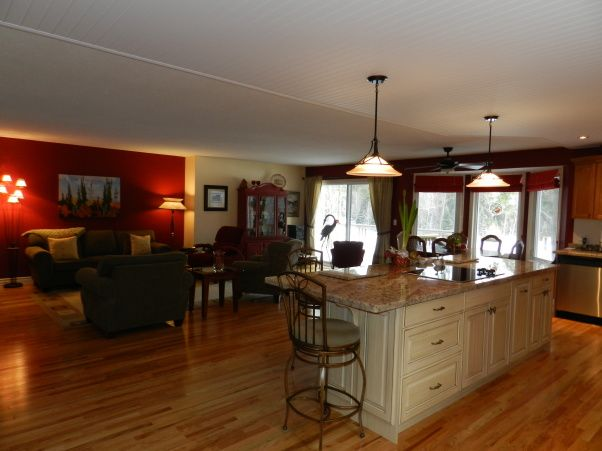 Open Concept Kitchen Living Room Designs Great