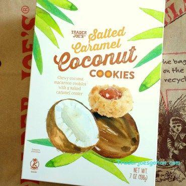 Trader Joe's Salted Caramel Coconut Cookies 7oz $3.49 トレーダージョーズ 塩キャラメル ココナッツマカルーン  #traderjoes #coconut #cookie #macaroon