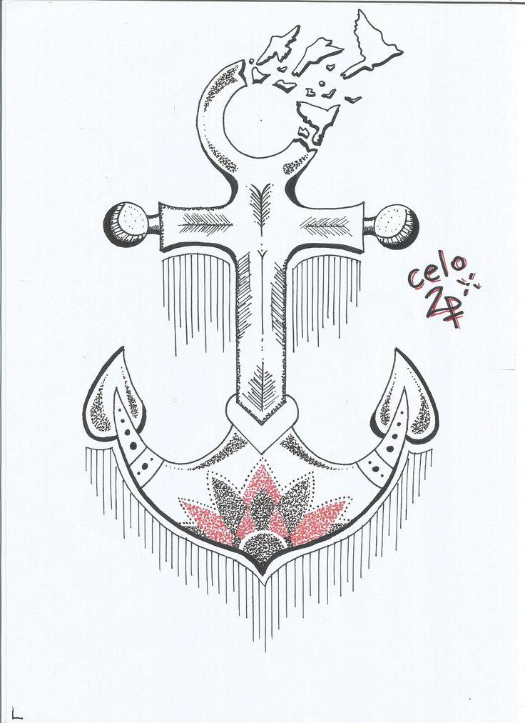 Anchor, Mandala and Birds