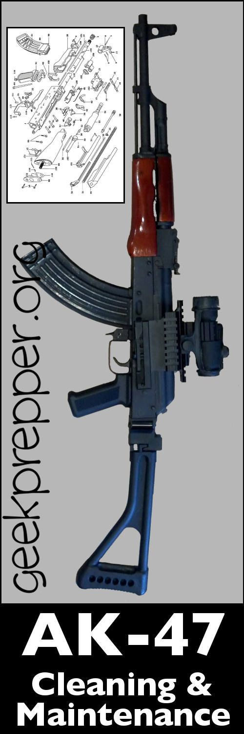 Despite the ruggedness of the AK-47 and its ability to function with sand and grit choking it, ak47 cleaning and maintenance will certainly extend it's life! geekprepper.org
