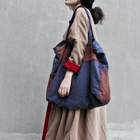 Women Vintage Cotton Linen Bag