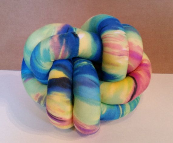 Super soft and fun knot pillow