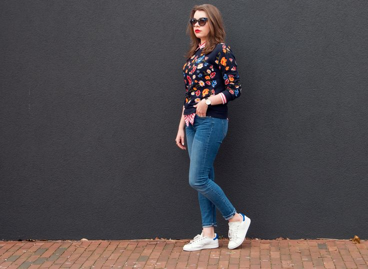 Outfit Fresh Flowers - Layering Contrast Fashion Style Blog