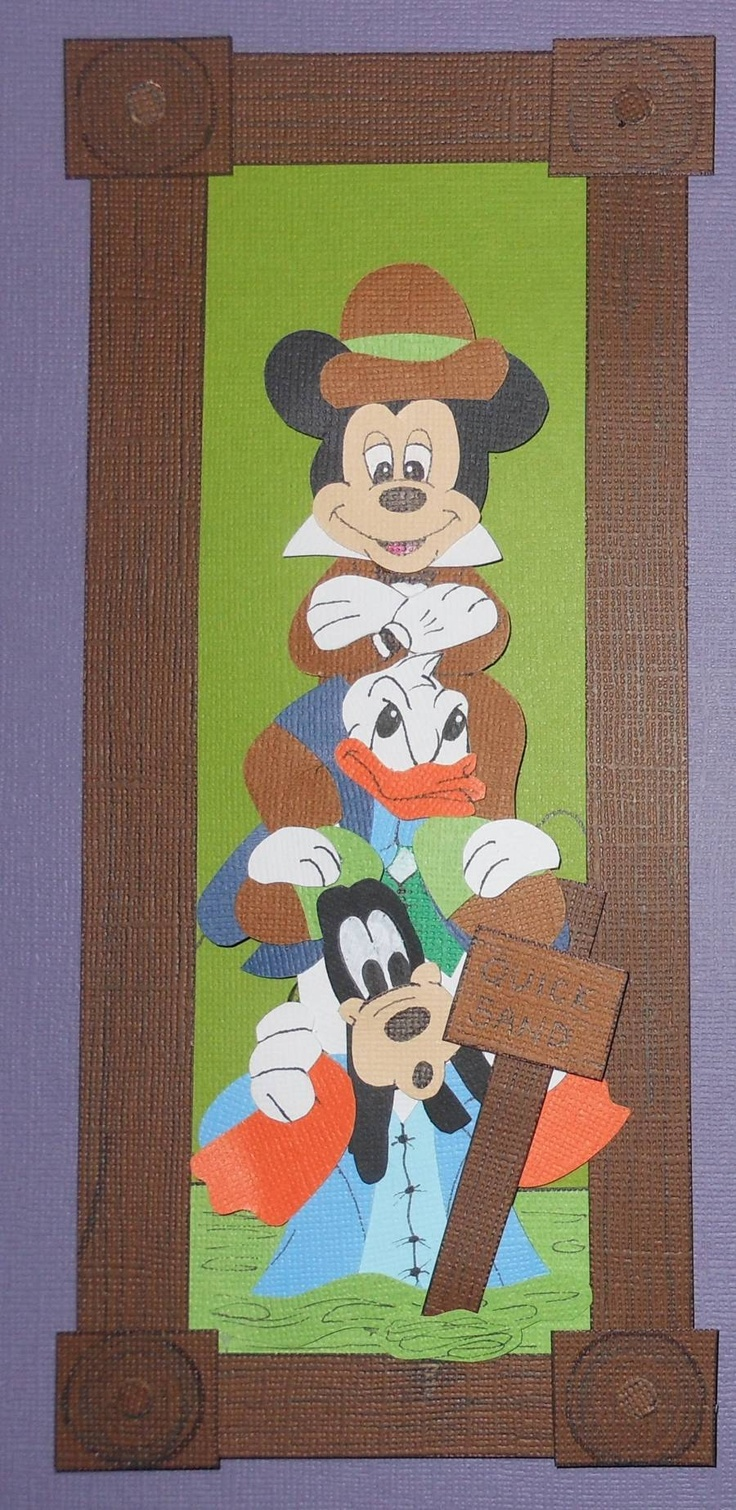 How to scrapbook disney - Momz Disney Haunted Mansion Paper Piece Set 4 Scrapbook Pages Mickey Vacation