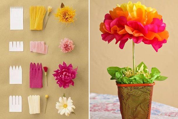 flores de papel - 10 Ideias Criativas para Decorar sua Festa Junina.