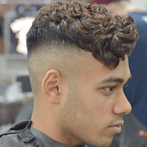 Shaved Sides Short Curly Top Shaved Sides Hairstyles Mens Hairstyles Shaved Sides
