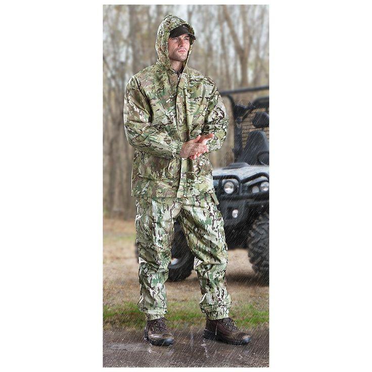 U.S. Military Surplus OCP Camo Men's Rain Suit, 2-Piece, New