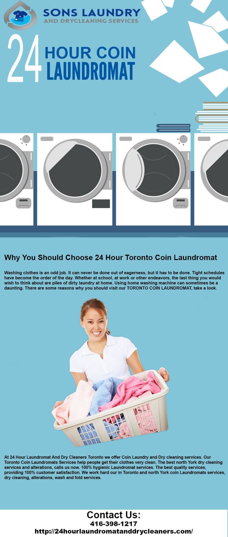 At 24 Hour Laundromat And Dry Cleaners Toronto we offer