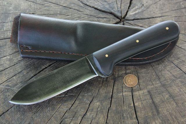 Kephart Knife, African Blackwood Knife, Lucas Forge, Custom Hunting Knives, Custom Knives, Collector Knives, Hunting Knife