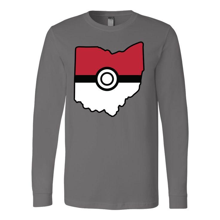 Pokemon USA American State Long Sleeve T Shirt - TL00623LS