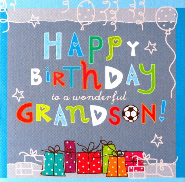 Happy Birthday grandson!