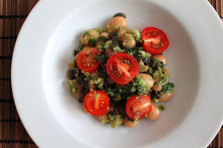 Fazolový salát vegan recept