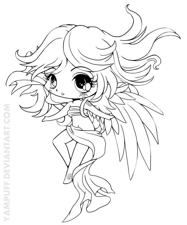 Suii Minichibi Lineart By YamPuff On DeviantART Coloring SheetsAdult