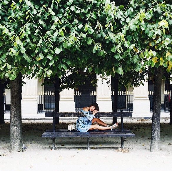 Lounging in Jardin du Palais-Royal margo & me best paris instagram spots city guide