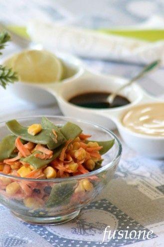 insalata con taccole carote e mais