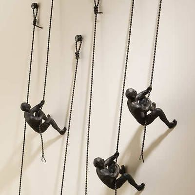 Global Views Climbing Man Men Metal Wall Sculpture Art-8.80849- Free Shipping