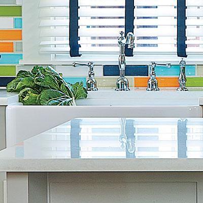 Beautiful Caesarstone Countertops and Farm-Style Sink | CookingLight.com