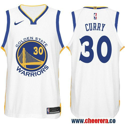 Nike NBA Golden State Warriors  30 Stephen Curry Jersey 2017-18 New Season  White Jersey 2f5835ded