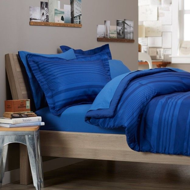 And a sophisticated royal blue comforter set. | 23 Of The Best Bedding Sets You Can Get On Amazon