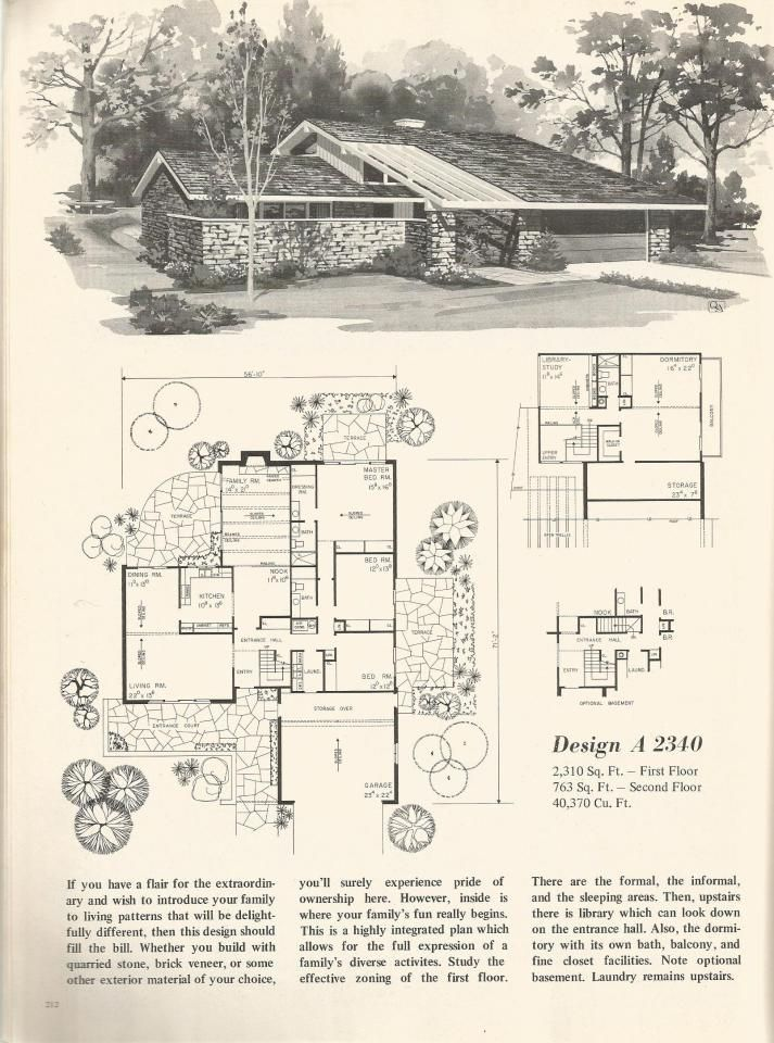 1021 best images about mid century mod architecture on for Mid century floor plans