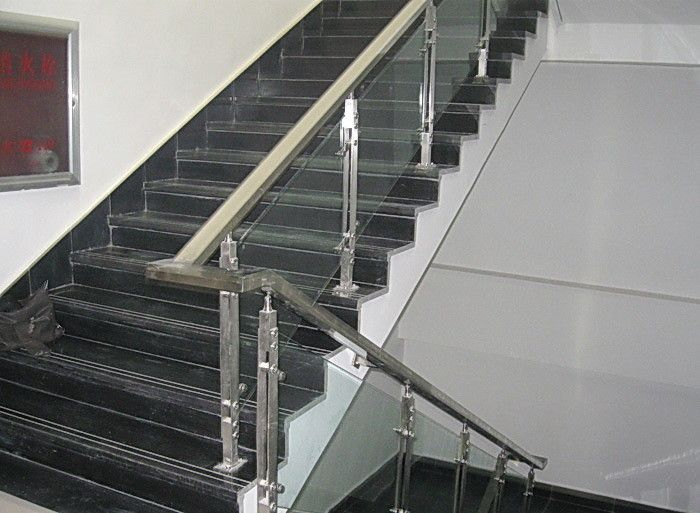 Best Stair Railing With Double Flat Bar Post And Clear 640 x 480