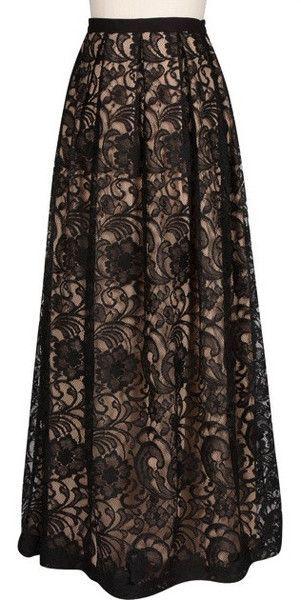 Modest Lace Maxi Skirt | Mode-sty – Mode-sty