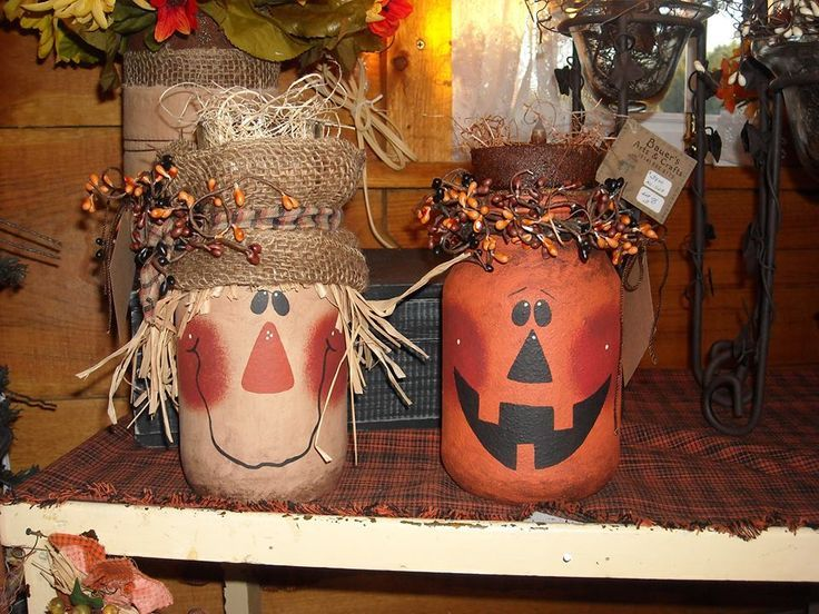 Repurposed jars cute fall idea mason jar crafts for Fall diy crafts pinterest