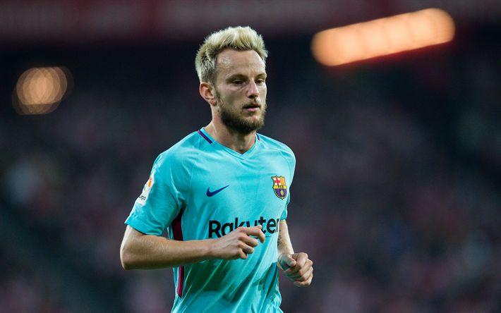 Download wallpapers Ivan Rakitic, 4k, Croatian football player, Barcelona FC, Spain, Catalonia, La Liga