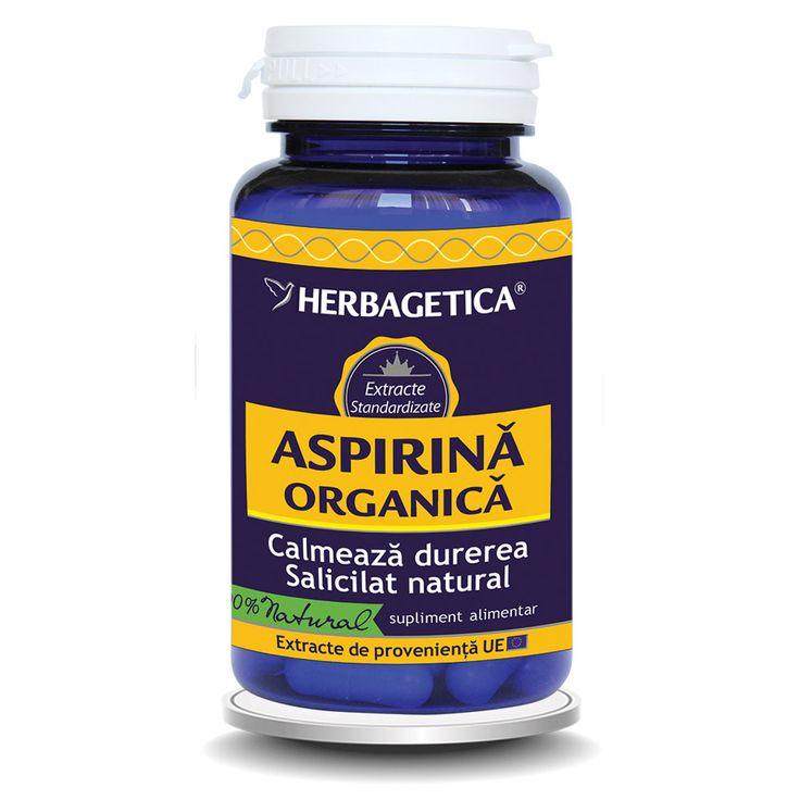 Aspirina organica reduce febra si durerea, reduce inflamatiile generale si articulare, reduce nevralgiile, calmant natural.