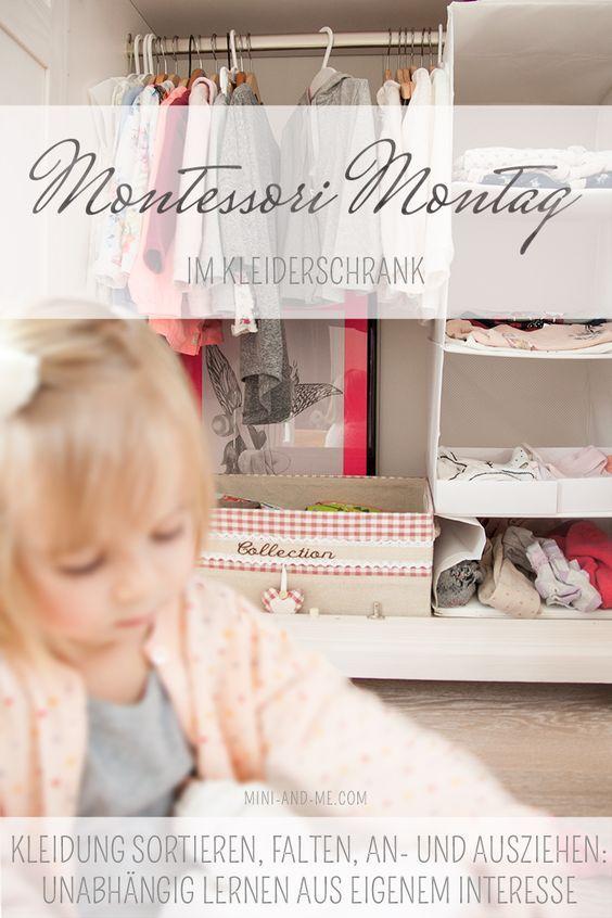 Es gibt viele einfache, sinnvolle Wege, Montessori in den Alltag unserer Kinder zu integrieren. Ein Kleiderschrank nach Montessori ist einer davon.