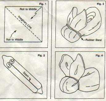How to make a washcloth (or boo-boo) bunny.