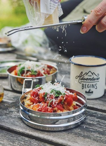 Easy Camping Food Recipe on Trangia Stove