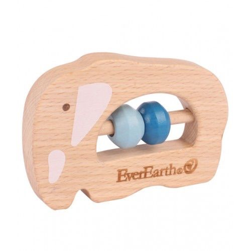 EverEarth Grasping Elephant Quality grasping toys made from FSC Certified Natural Wood and BPA free are ideal for little hands to hold on to. Safe and ideal for use as teethers for babies. Suitable for 6 mths onwards