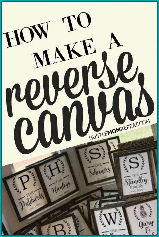 How To Make A Reverse Canvas Sign Silhou Obsessed