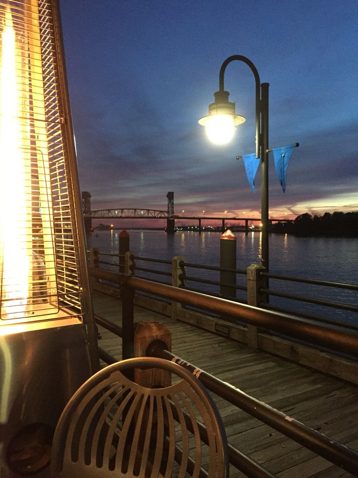 The George Restaurant on the Riverwalk - Dock & Dine in Historic Downtown Wilmington, NC. Great dinner on the River.