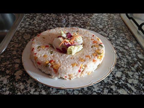 Corona de arroz con verduras