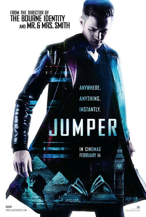 #74. Jumper. Directed by Doug Liman. Starring Hayden Christensen, Rachel Bilson…