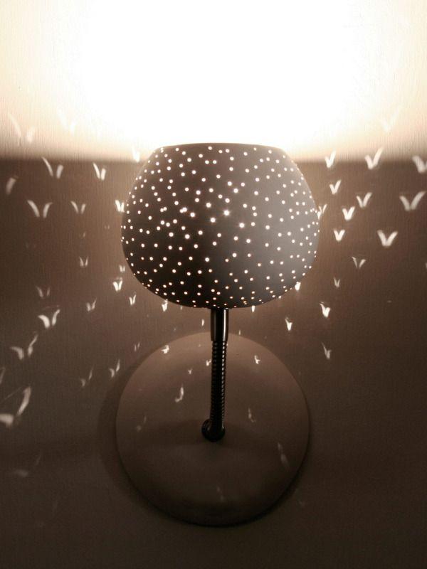 Claylight Sconce Dot Pattern Gilt Home, Home, Lamp, Night Light, Birds,