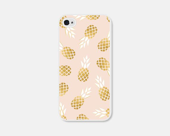 Pink and Gold Pineapple iPhone 5c Case Pineapple by fieldtrip