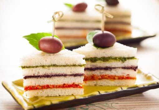Canap s tres colores divina cocina aperitivos for Canape sandwiches