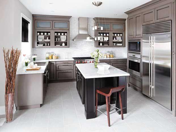 Dark Granite Countertops Color Schemes Oak Cabinets