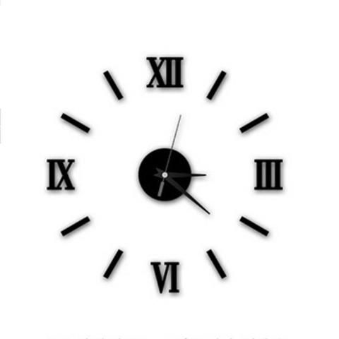 Modern Diy Roman Numeral Home Decor 3d Wall Clock Loluxe