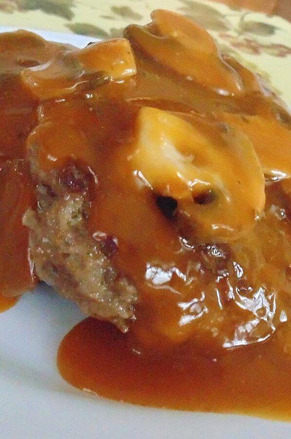 Basic Salisbury Steaks Recipe In 2020 Salisbury Steak Golden Mushroom Soup Salisbury Steak Recipes