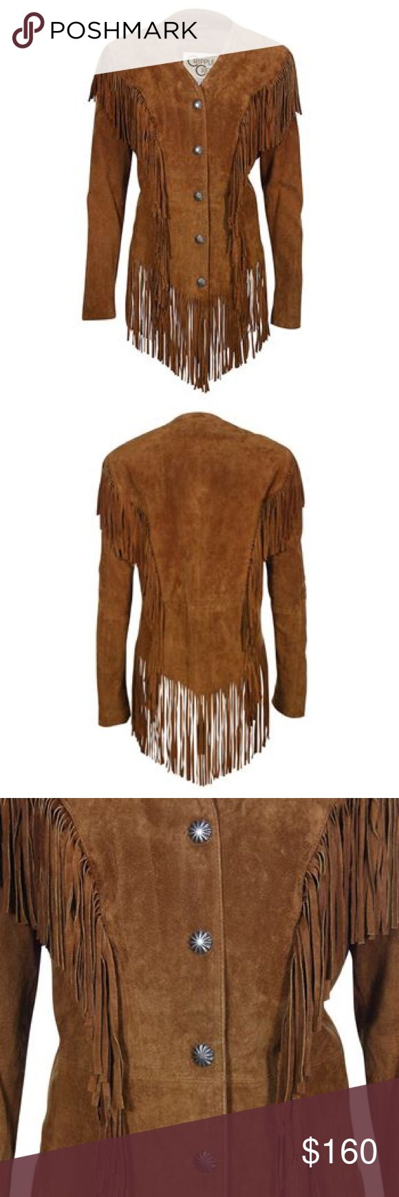 Cripple Creek Women's Ghost Rider Suede Fringe Blk Cripple Creek Women's Ghost Rider Suede Fringe Jack Black.  Super cute size S. Excellent condition. I'm going to take to cleaners and find matching buttons some were replaced. So I'll match all buttons Jackets & Coats