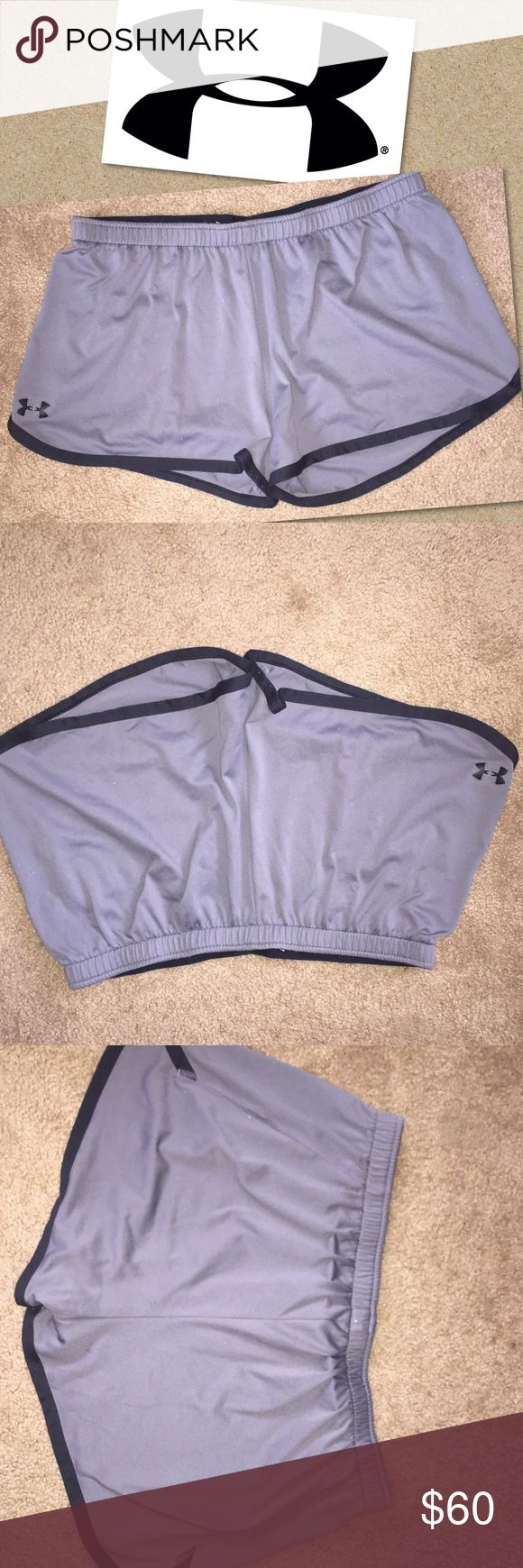 Under Armour running jogging shorts Under Armour  running jogging shorts gray and black size large great condition Under Armour Shorts