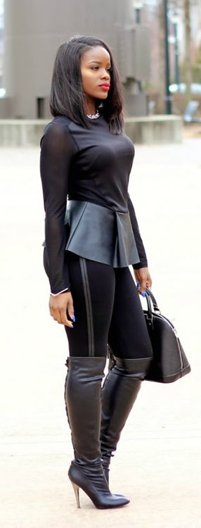 Pinterest: Christy Lashey . Leather Is The New Black / Love 4 Fashion