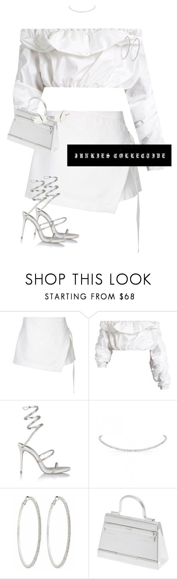 """""""No hook"""" by junkiescollective ❤ liked on Polyvore featuring Dion Lee, E L L E R Y, René Caovilla, Roberta Chiarella, Hermès and Jean-Paul Gaultier"""