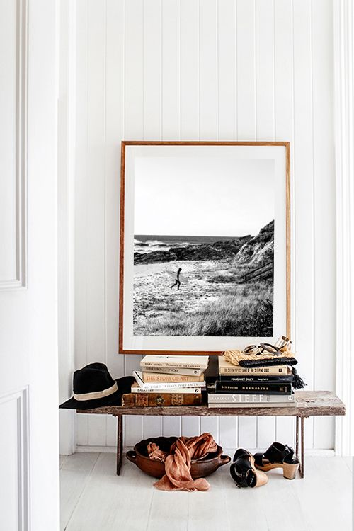 'Surf Life' Photographic Print by Kara Rosenlund. This image was captured in sleepy coastal town Brooms Head in northern NSW. A secret surf spot known to few, where the bush meets the beach. A timeless black and white photograph. © Kara Rosenlund  Shop here: http://shop.kararosenlund.com/surf-life-photographic-print/